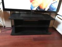 Black TV stand. Good clean condition