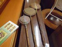 3 antique/ vintage brass bed pans.