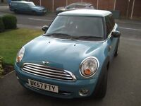 FOR SALE MINI ONE 3DR HATCH 1.4 2007 (57) 62500 MILES