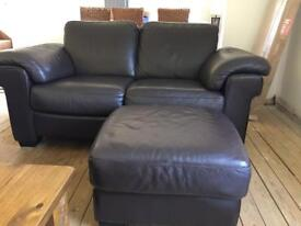 2,3 seater and footstool for sale