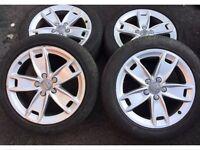 Audi A3 8P Alloy wheel set good tyres