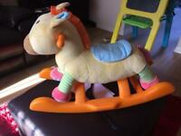 Toddlers rocking horse plays tunes