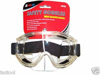 Safety Goggles With Security Lenses Eye Protection Adjustable Band Secure Fit