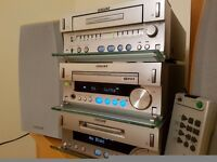 Sony stereo. Separate CD player, Mini Disc and Cassette player. TC-SD1 range. Remote. Good condition