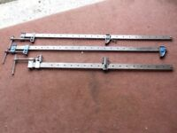 Three Steel Clamps