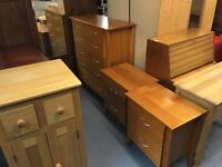 AUSTRALIAN PINE CHEST AND 2 BEDSIDE TABLES (DELIVERY AVAILABLE)