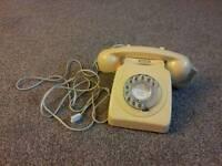 1960's 1950's vintage retro british telecom dial phone 746F model Bt telephone