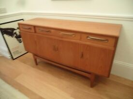 1960's mid century G Plan / Fresco range compact sideboard Teak TV unit Storage