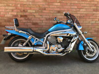 HYOSUNG GV 650 CUSTOM CHOPPER 2006 CRUISER SPARES OR REPAIR RUNS GV650 PROJECT