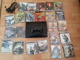 PS3 500GB SUPER SLIM WITH 22 GAMES