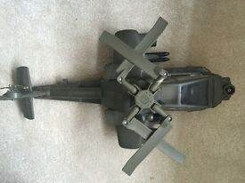 Large toy apache HM Forces Helicopter