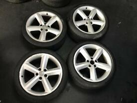 "GENUINE SET OF FOUR 18"" AUDI WHEELS*BARGAIN**"