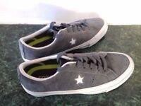 CONVERSE One Star Suede Thunder Grey Trainers size 4 RRP £35