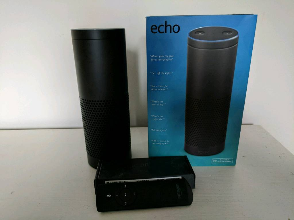 Amazon echoin Lyndhurst, HampshireGumtree - Amazon echo in excellent condition. Still boxed with all instructions. Amazon echo remote is also included fully boxed and never used