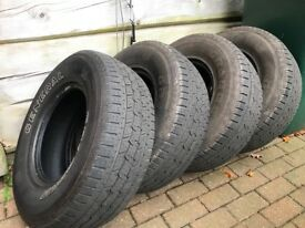 4 Used 255 70 15 4x4 all season tyres