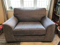 Snuggler Armchair in Charcoal