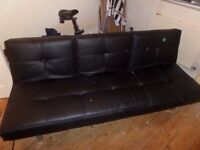 ***FREE*** BLACK LEATHER SOFABED