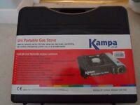 Kampa Uni Portable Gas Stove + two Butane (Brand New)