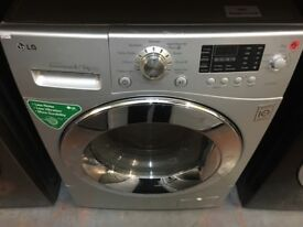 LG 8/6KG SILVER WASHER DRYER RECONDITIONED