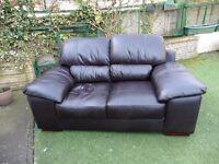 Harveys leather 2 seater sofa
