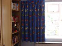 Kids complete bedroom Accessories-curtains, bedding, rug, fleece (Ruislip)