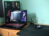 Gaming Laptop Bundle, MSI Apache PRO, (Mouse, Mat, Bungee)