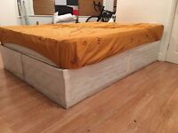 White Double Divan base (delivery possible)