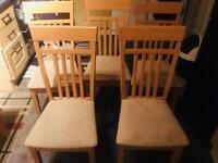 Table with 6 chairs/wardrobe/tv corner table/
