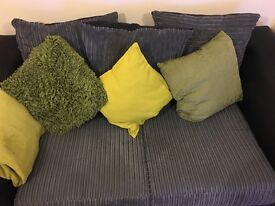 Grey and Black two seater sofa