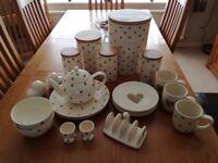 Hearts & Dots Tableware.