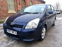 2008 Toyota Corolla T2 Verso D4D 2.2 Diesel. Full Service History. 7 Seater