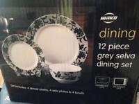 Wilko 12 piece grey selva dining set