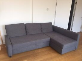 Corner Grey Sofa - 3 seater - Sofa, chaise longue, double bed and storage in one