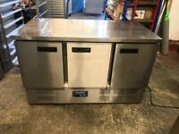 Commercial bench counter pizza fridge for shop cafe restaurant takeaway bchvdd