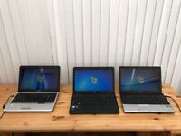 3 Laptops in good working order. £230 for the lot!