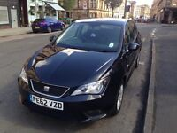 Seat Ibiza SE Car 1.4 2012 Black Petrol 5 door hatchback. Great Condition, low milage.