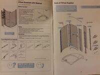 Offset Quadrant with shelves shower enclosure