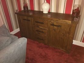 Living Room Furniture (coffee table, sideboard, entertainment cabinet and two side tables)