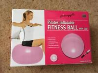Brand new Inflatable fitness ball and dvd