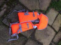 Boat paddles and life jackets