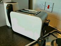 White Kettle & Toaster