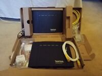 TALK TALK ROUTERS, 2 IN TOTAL, 1 POWER CABLE, 2 ETHERNET CABLES, 4 ADS