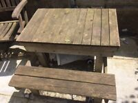 Wooden picnick sand pit table