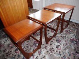 Retro 1970's G PLAN Teak nest of 3 tables