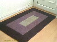 purple/plun and grey rug good condition 9.99 80cmx140cm