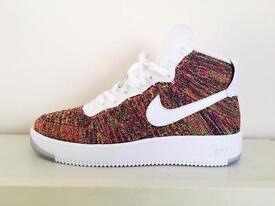 Nike AirForce 1 Flyknit Mid UK size 8.5 / 9