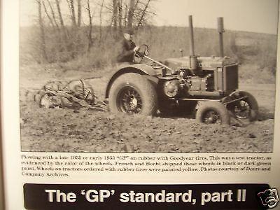 John Deere GP Tractor Green magazine JD Plow History