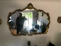 Antique Rocco style mirrors