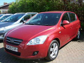 2009 09 PLATE KIA CEED 1.6 LOVELY 5 DOOR HATCH FSH NEW MOT ONLY £2495