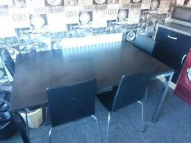 Black and chrome table +4 hairs